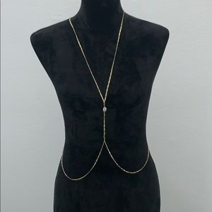 Vanessa Mooney Gold Body Chain - one size